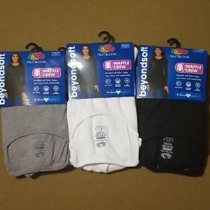 3 Sz XXXL Thermal Crew Long Underwear